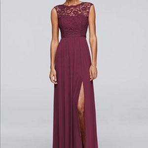 Sangria floor length dress